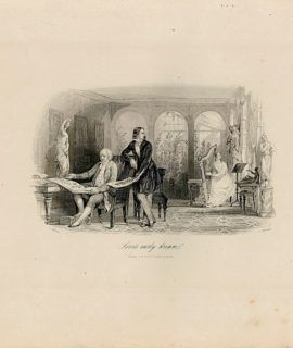 Antique Engraving Print, Love's Early Dream
