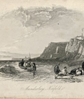 Antique Engraving Print, Mundesley, Norfolk, 1820 ca.