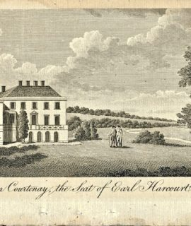 Antique Engraving Print, Nuneham Courtenay the Seat of Earl Harcourt, 1793