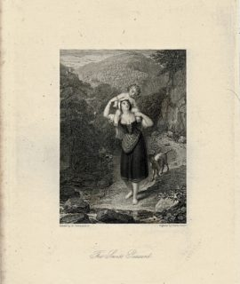 Antique Engraving Print, The Swiss Peasant, 1860 ca.