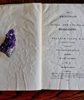 The Principles of Moral and Political Philosophy by William Paley, D.D. London, 1811