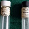 Collection of Vintage Rare Medicine Glass Bottles, 1950