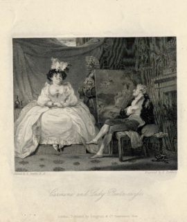Antique Engraving Print, Carmine ad Lady Pentneazle, 1830