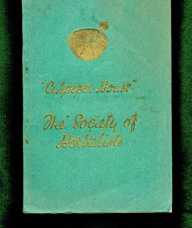 The Society of Herbelist Culpeper House, Love & Malcomson, 1941