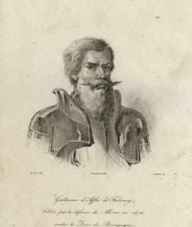 Antique Engraving Print, Guillaume d'Affri de Fribourg, 1810 ca.