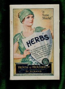 Herbs, A comprehensive list of herbal remedies and some brief notes on their adaptability to the treatment of common illnesses, Heath & Heather, St. Albans, 1929