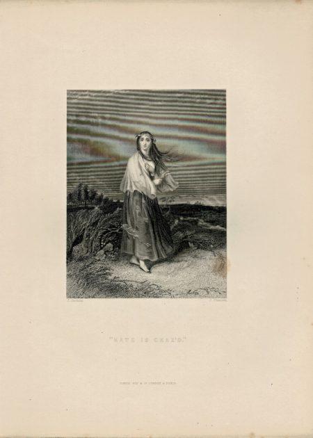Antique Engraving Print, Kate is Craz'd, 1845
