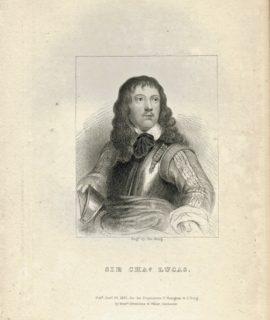 Antique Engraving Print, Sir Charles Lucas, 1824