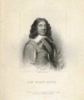 Antique Engraving Print, Sir George Lisle, 1824