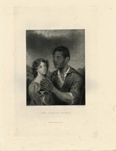 Rare Antique Engraving Print, The African Prince, 1830 ca.