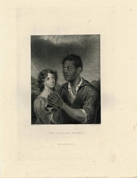 Rare Antique Engraving Print, The African Prince, 1844
