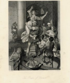 Antique Engraving Print, The Brides of Venice, 1840