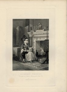 Antique Engraving Print, The Mother of Doddridge, 1845