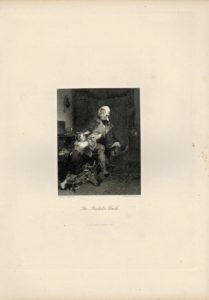 Antique Engraving Print, The Bachelor Uncle, 1844