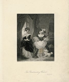 Rare Antique Engraving Print, The Rival waiting Women, 1836