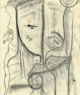 Indifference, charcoal on paper by Mary Blindflowers©