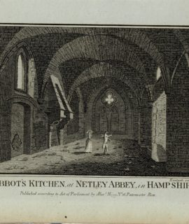 Antique Engraving Print, The Abbot's Kitchen, at Netley Abbey in Hampshire, 1770