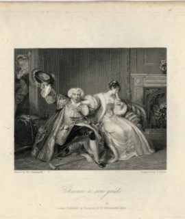 Rare Antique Engraving Print, Chacun à son goût, London, 1836