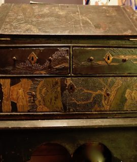 Antique Handmade Chinese Writing Bureau with table