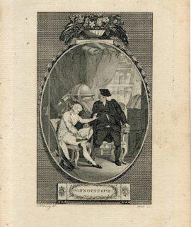Antique Engraving Print, Connoisseur, 1786 (Plate I)