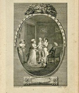 Rare Antique Engraving Print, Connoisseur, 1786 (Plate VII)