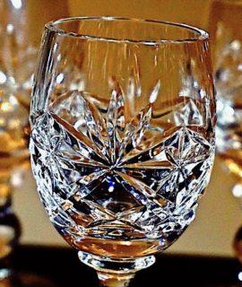 Set Of Six Vintage Cut Crystal Glasses, 1970