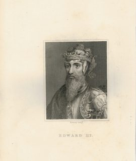 Antique Engraving Print, Edward III, 1820 ca.