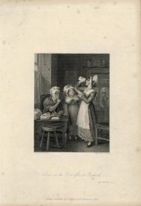 Rare Antique Engraving Print, Scene in the Post Office at Fairport, 1836