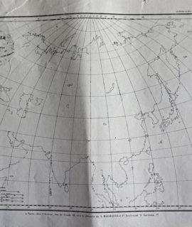 Antique Map, Asie pour le n° 4 de l'Atlas de l'Atlas de M.M. Achille Meissas et Michelot, 1866