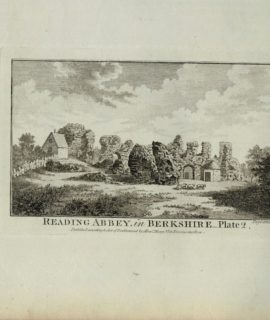 Antique Engraving Print, Reading Abbey in Berkshire, 1770