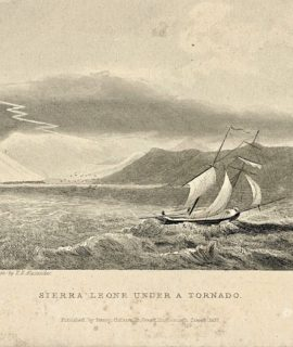 Antique Engraving Print, Sierra Leone under a tornado, 1837