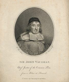 Antique Engraving Print, Sir John Vaughan, 1798