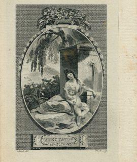 Antique Engraving Print, Spectator, 1786 (Plate XXIV)