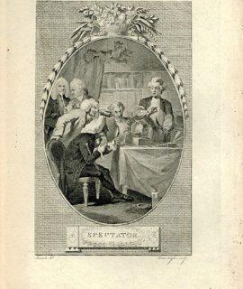 Antique Engraving Print, Spectator, 1786 (Plate XXVIII)