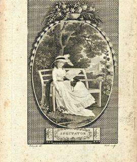 Antique Engraving Print, Spectator, 1786 (Plate XIX)