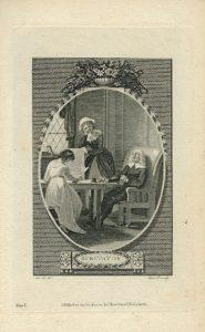 Antique Engraving Print, Spectator, 1785 (Plate I)