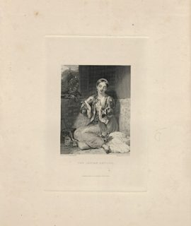 Antique Engraving Print, The Ionian Captive, 1837