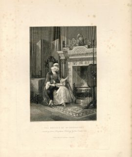 Rare Antique Engraving Print, The Mother of the Doddridge, 1837
