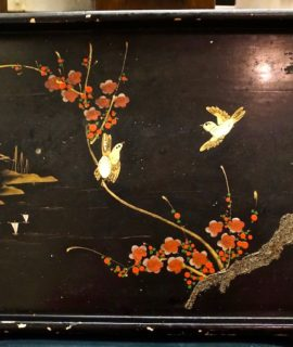 Vintage Chinese Lacquered Tray, 1950 ca.