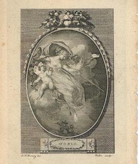 Antique Engraving Print, World, 1786, (Plate I)