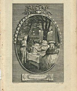 Antique Engraving Print, Connoisseur, 1786 (Plate II)