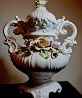 Vintage Capodimonte Amphora Vase, 1960