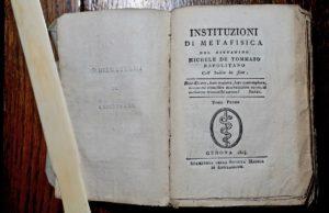 Michele de Tommaso Napolitano, Instituzioni di Metafisica, Genova, Stamperia della Società Medica di Emulazione, 1804