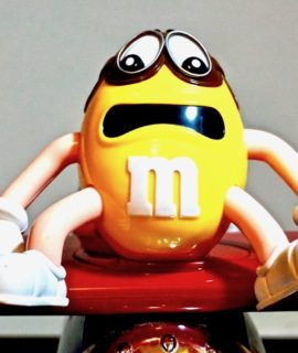 M&M's Barnstorming Bi-Plane Sweet/Candy Collectable Dispenser