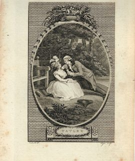Antique Engraving Print, Tatler, 1785 (Plate II)