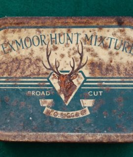 Rare Vintage Exmoor Hunt Mixture Tobacco Tin, Broad Cut, 1930