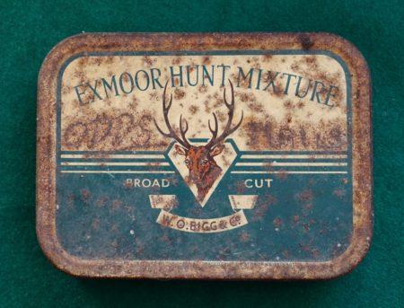 Rare Vintage Exmoor Hunt Mixture Tobacco Tin, Broad Cut, 1930