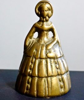 Antique Lady Brass Bell