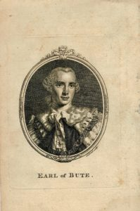 Antique Engraving Print, Earl of Bute, 1790 ca.
