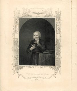 Antique Engraving Print, The Rev. Alban Butler, 1830 ca.